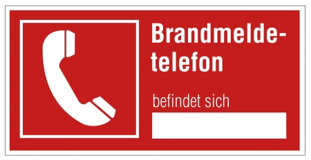 extinguishers: Fire safety sign Phone warning sign