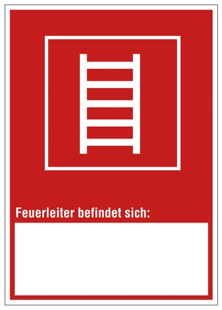 Fire safety sign ladder warning sign Stock Vector - 14337950