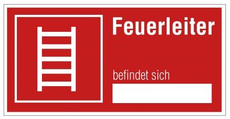 manually: Fire safety sign ladder warning sign Illustration