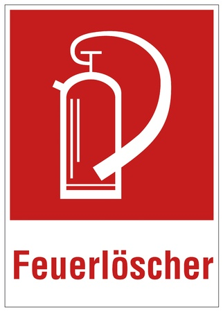 Fire safety sign fire extinguisher warning sign Stock Vector - 14337965