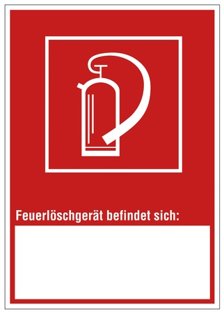 Fire safety sign fire extinguisher warning sign Stock Vector - 14337981