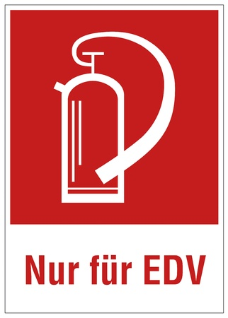 extinguishers: Fire safety sign fire extinguisher warning sign EDV