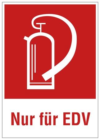 edv: Sicurezza antincendio estintore segno di avvertimento segno EDV Vettoriali