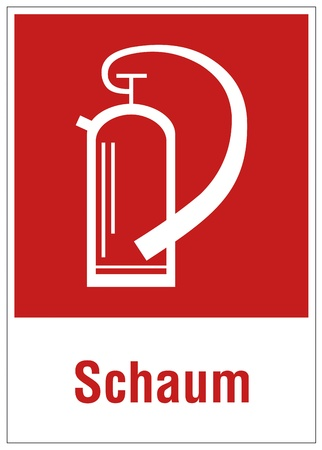 extinguishers: Fire safety sign fire extinguisher warning sign powder foam