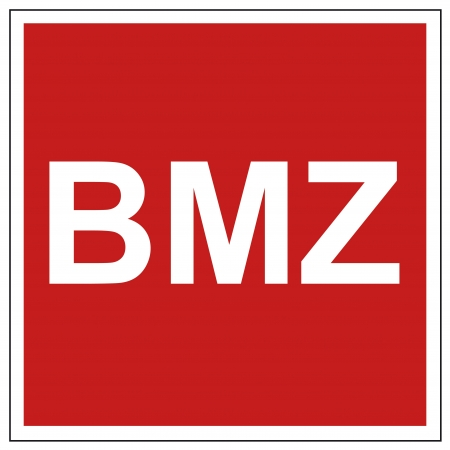 extinguishers: Fire safety sign BMZ warning sign