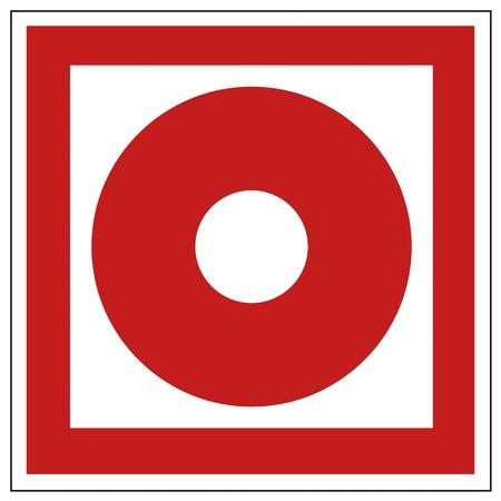 detector: Fire safety sign fire hand alarm detectors warning sig Illustration