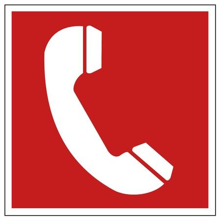 Sicurezza antincendio segno di fuoco Phone segnale di avvertimento
