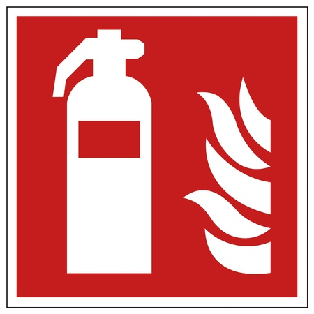 workplace safety: Fire safety sign fire extinguisher warning sign