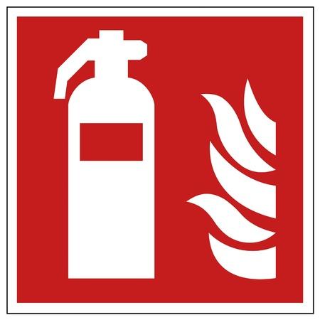 se�ales de seguridad: La seguridad contra incendios signo extintor se�al de advertencia Vectores