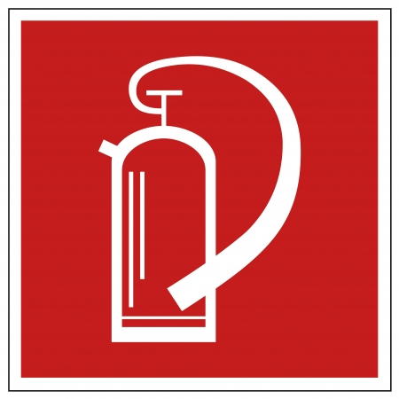 Fire safety sign fire extinguisher warning sign  Vector