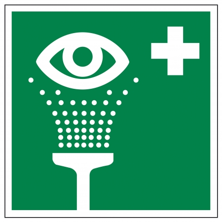 rinse: Rescue signs icon eye shower