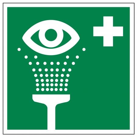 alternatively: Segnali di soccorso occhio doccia icona