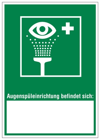 Rescue signs icon eye shower Vector