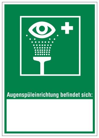 alternatively: Segnali di soccorso occhio doccia icon
