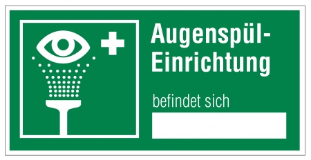 alternatively: Rescue signs icon eye shower