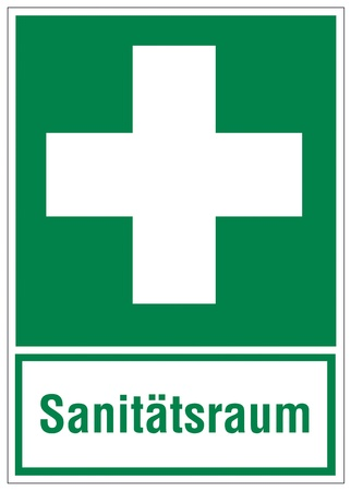 cross linked: Rescue signs icon exit emergency sanitary space Illustration