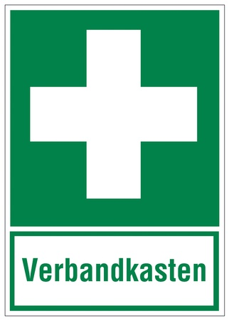 Rescue signs icon exit emergency first aid kit Vector