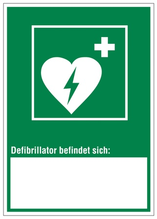 rescue imagine: Rescue signs icon defibrillator heart cross