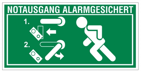 aligned: Rescue signs icon exit emergency arrow flush away alarm system Illustration