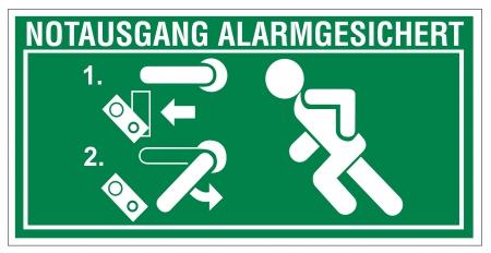 no correr: Signos de rescate salida icono de la flecha de emergencia Lavar los sistema de alarma