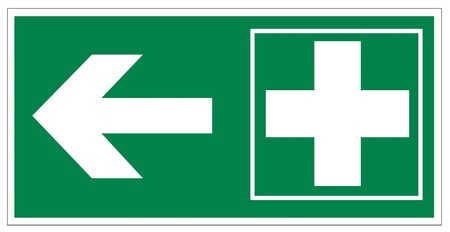 first aid kit: Rescue signs icon exit emergency first aid kit