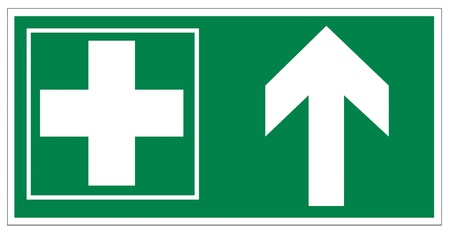 association imagine: Rescue signs icon exit emergency first aid kit