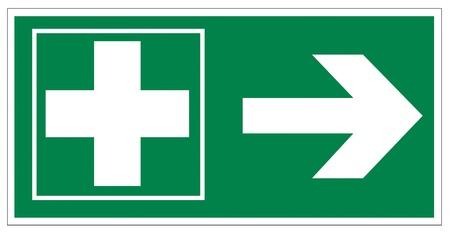 no correr: Rescate de los signos icono de salida de emergencia botiquín de primeros auxilios