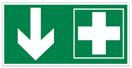 emergency exit: Rescue signs icon exit emergency first aid kit