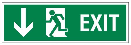 Rescue tekenen pictogram afslag nood pijl weg te spoelen
