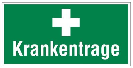 alternatively: Rescue icona segni di uscita d'emergenza malato indossare croce