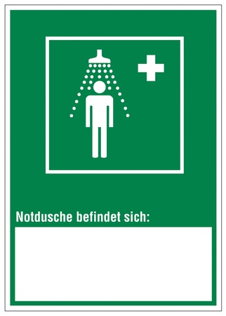 alternatively: Rescue signs icon exit emergency cross emergency shower