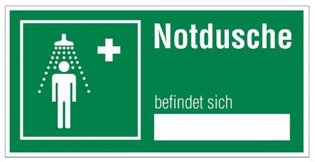 alternatively: Icon segni delle uscite di emergenza croce doccia di emergenza Vettoriali