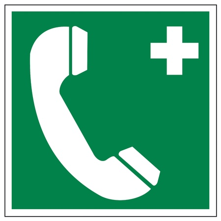 rescue imagine: Rescue signs icon exit emergency ladder rescue phone Illustration