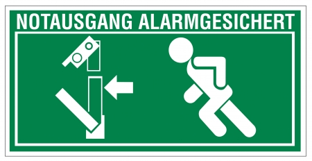 no way out: Rescue signs icon exit emergency arrow flush away alarm system Illustration