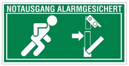 no correr: Señales de salida de rescate de emergencia icono de la flecha a ras de distancia sistema de alarma