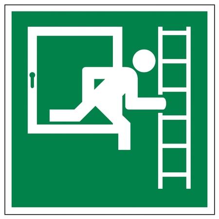 alternatively: Icon segni uscita scala di emergenza