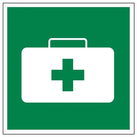 no correr: Rescate de los signos icono de salida de emergencia de primeros auxilios kit de caso