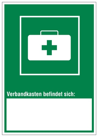 Rescue signs icon exit emergency first aid kit case Vector