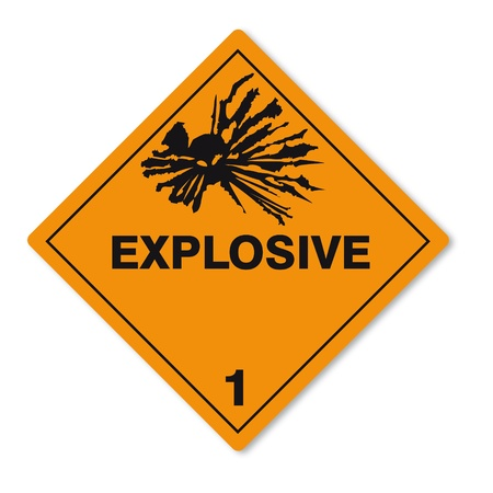 Hazardous substances signs icon flammable skull explosion bomb