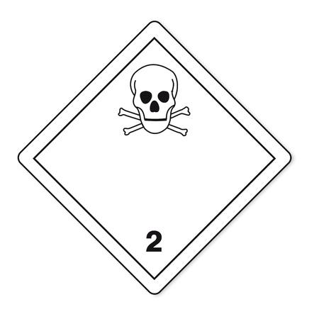 sustancias peligrosas: Las sustancias peligrosas se�ales de gas t�xico inflamable icono de la calavera Vectores