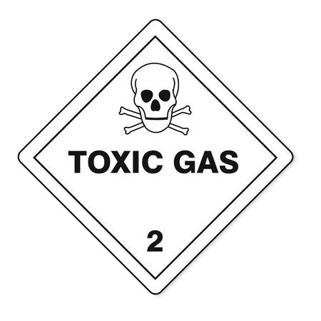 sustancias toxicas: Las sustancias peligrosas señales de gas tóxico inflamable icono de la calavera Vectores
