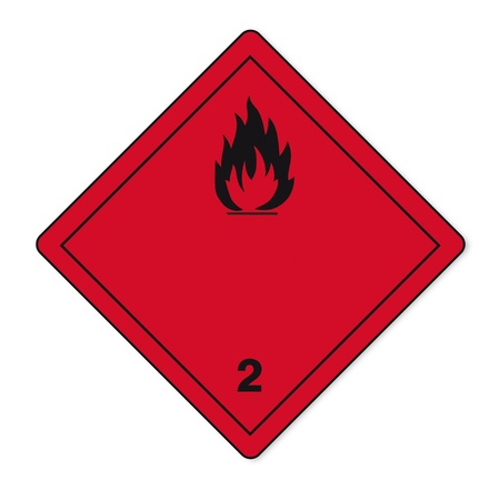 Hazardous substances signs icon flammable skull radioactive fire Stock Vector - 14380148