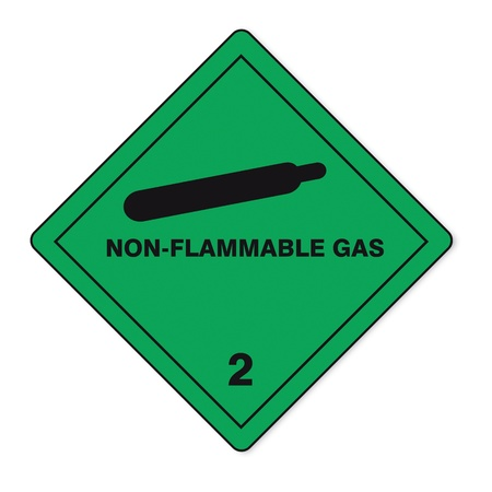 hazardous substances: Hazardous substances signs icon flammable skull radioactive fire gas Illustration