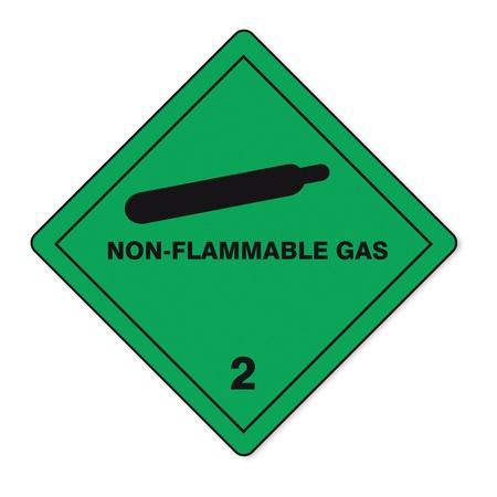 sustancias peligrosas: Sustancias peligrosas se�ales icono de la calavera de gas inflamable al fuego radiactivo