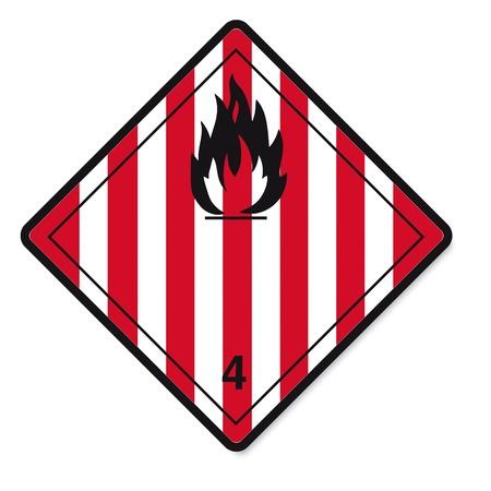 sustancias toxicas: Las sustancias peligrosas señales icono de la calavera inflamables radiactivo fuego