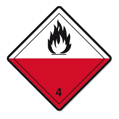 sustancias toxicas: Las sustancias peligrosas señales icono inflamable cráneo radiactivo fuego Vectores