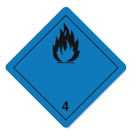 Hazardous substances signs icon flammable skull radioactive fire Stock Vector - 14380149