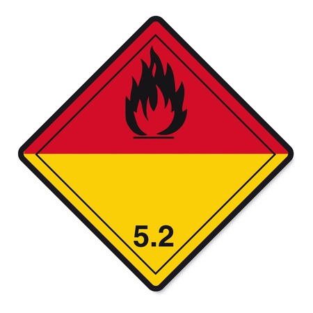 Hazardous substances signs icon flammable skull radioactive fire Stock Vector - 14380076