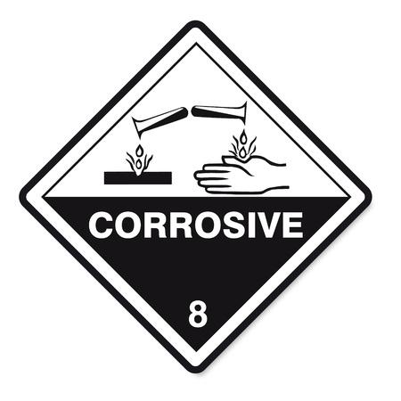 Sustancias peligrosas señales icono de la calavera inflamables corrosivos peligro radiactivo