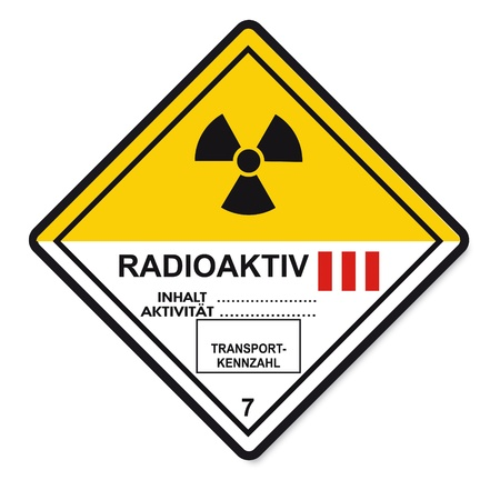 Hazardous substances signs icon flammable skull radioactive atom Vector